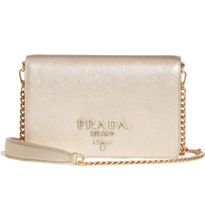 Prada Small Monochrome Leather Shoulder Bag | Nordstrom