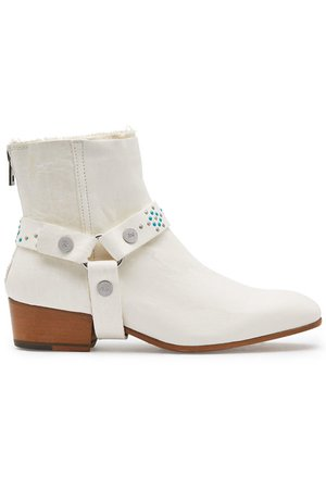 Zadig & Voltaire - Sonlux Leather Ankle Boots - white