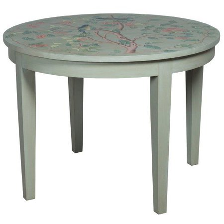 Song Birds Painted Breakfast Table - manor sage finish | Belle Escape