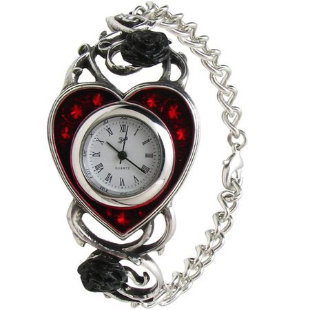 Bed of Blood Roses Bracelet Watch - Necromancy Clothing