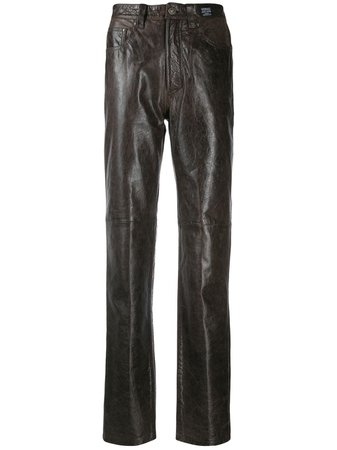 Versace Slim Leather pants