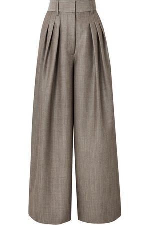 Marc Jacobs   Wool and mohair-blend high-rise wide leg pants   NET-A-PORTER.COM