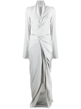 Rick Owens floor-length Wrap Gown - Farfetch