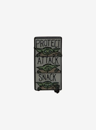 Star Wars The Mandalorian The Child Protect, Attack, Snack Enamel Pin