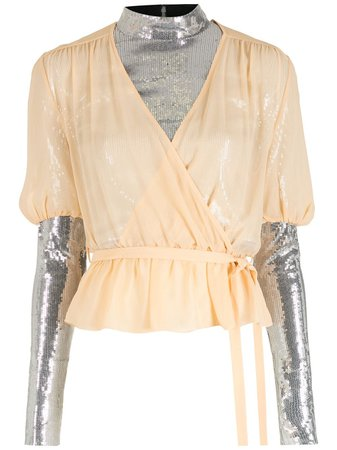 Nk layered sequin blouse - FARFETCH