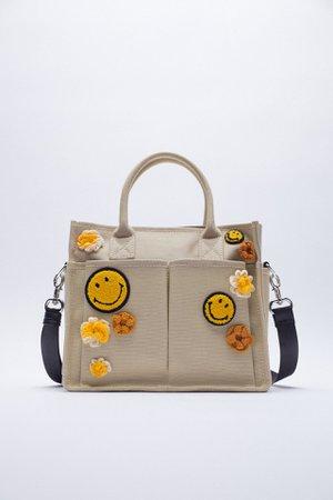CANVAS SMILEY ® TOTE BAG   ZARA United Kingdom