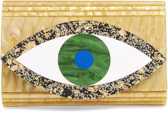 Eye Party Envelope Clutch