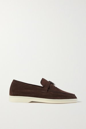 Summer Charms Walk Suede Loafers - Brown