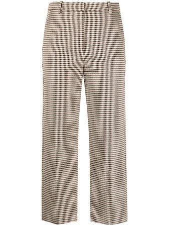 Pinko dogtooth-print Cropped Trousers - Farfetch