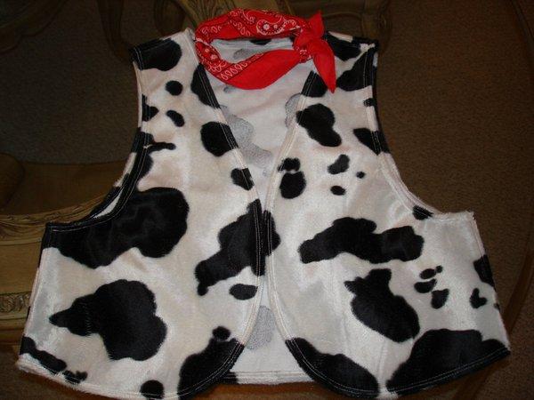 Cow Print Vest Men's