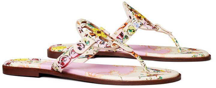 Miller Sandal, Printed Leather