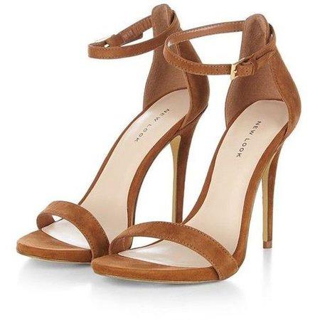 Brown Ankle Strap Sandal Heels