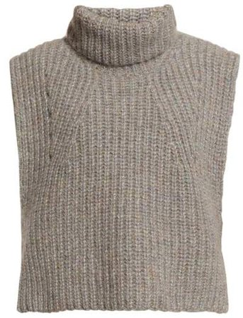 Megan Sleeveless Roll Neck Top - Womens - Grey
