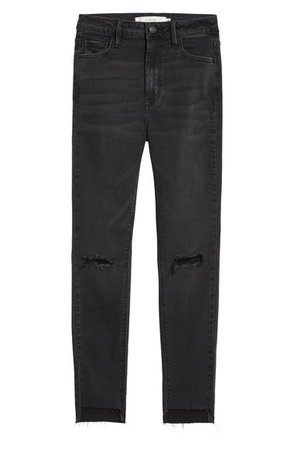 HIDDEN JEANS Ripped High Waist Ankle Skinny Jeans | Nordstrom