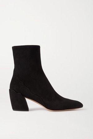 Lauren Suede Ankle Boots - Black
