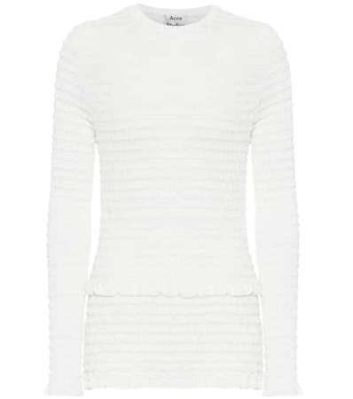 Acne Studios - White frill top