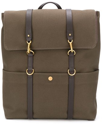 Mismo Canvas Clasp Fastening Backpack - Farfetch