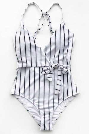 Stay Young Stripe One-piece Swimsuit – Cupshe