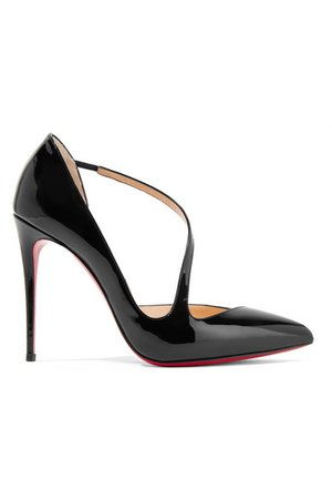 Christian Louboutin jumping 100 patent leather pumps