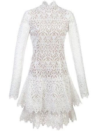 Jonathan Simkhai Lace Longsleeved Dress - Farfetch