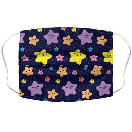 Cute Stars Pattern Face Mask Cover | LookHUMAN