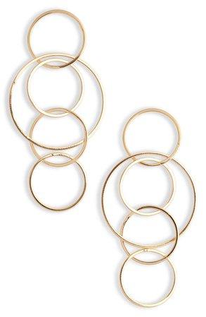 Sterling Forever Linked Hoop Drop Earrings | Nordstrom