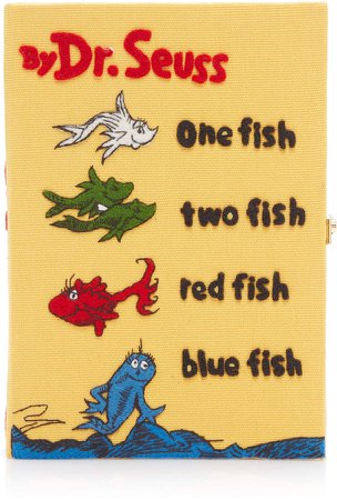 Olympia Le-Tan One Fish Two Fish Embroidered Canvas Book Clutch