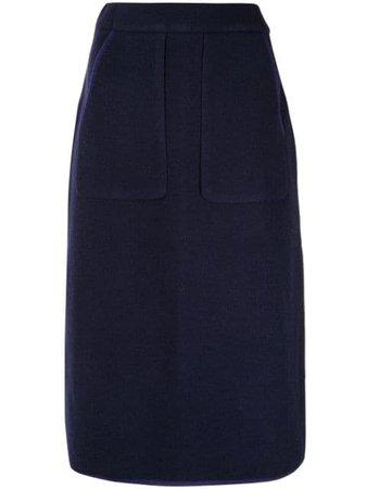 Blue Seya. knitted pencil skirt - Farfetch