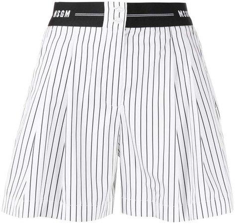logo-waistband striped shorts