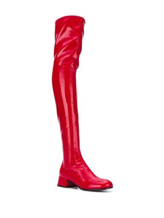Prada Thigh High Boots - Farfetch
