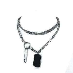 SILVER NECKLACE CHOKER PNG