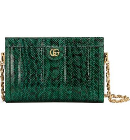 Gucci Small Ophidia Genuine Snakeskin Shoulder Bag | Nordstrom