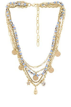 Amber Sceats Layered Embellished Necklace in Gold | REVOLVE
