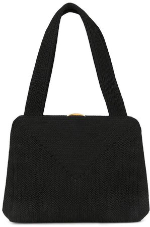 Pre-Owned 1998 trapeze woven tote