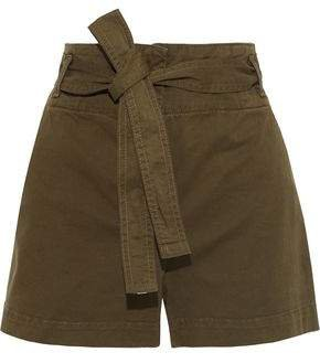 East Belted Cotton-blend Twill Shorts