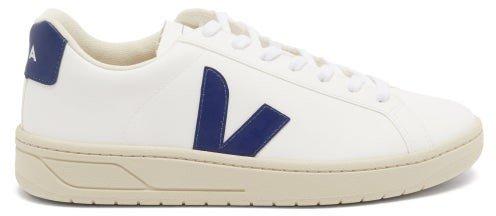 Urca V-logo Coated-canvas Trainers - White Navy