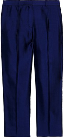 William Cropped Wool-blend Straight-leg Pants