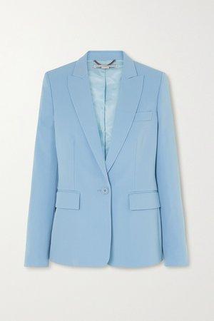 Blue Wool-blend twill blazer | Stella McCartney | NET-A-PORTER