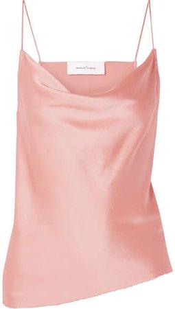 Marques' Almeida - Draped Silk-satin Camisole - Blush