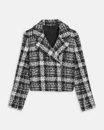 Slim Moto Jacket in Rubber Tweed | Theory