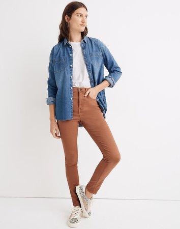 "10"" High-Rise Skinny Jeans: Garment-Dyed TENCEL Denim Edition"