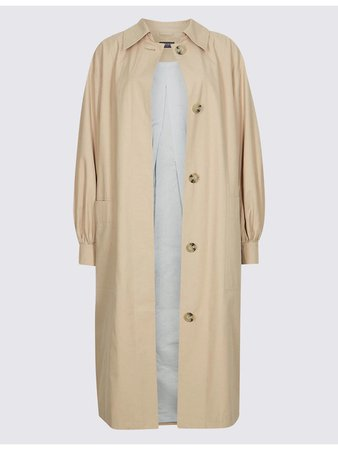 M&S Puff Sleeve Trench Coat