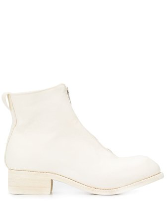 Guidi Cracked-Effect Ankle Boots PL1 White | Farfetch