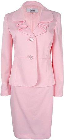 Amazon.com: Le Suit Women's 2 Button Sateen Skirt Suit: Clothing