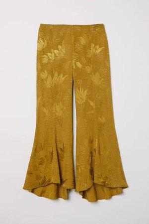 Jacquard-weave Pants - Yellow