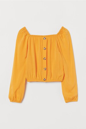 Viscose Blouse with Buttons - Yellow - Kids   H&M US