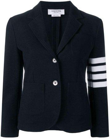 4-Bar Stripe Navy Sport Coat
