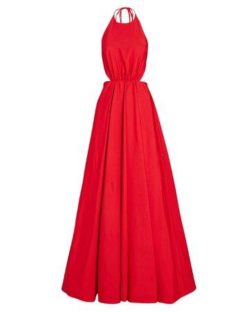 STAUD Georgia Halter Maxi Dress | INTERMIX®
