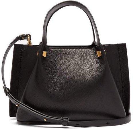 Go Logo Small Leather Shoulder Bag - Womens - Black