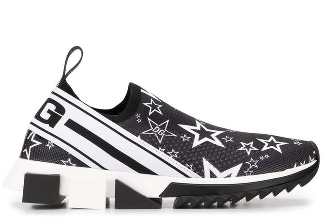 Sorrento star print slip-on sneakers
